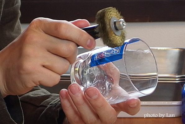 アトリエココロ名入れ彫刻グラス製作体験