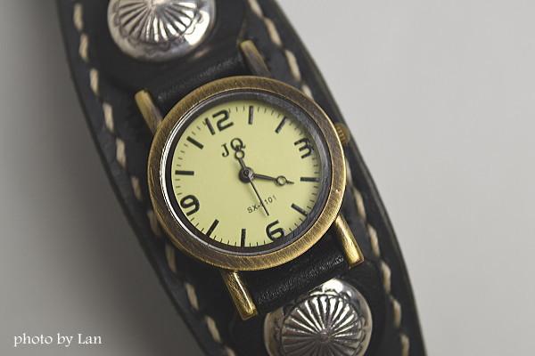 名入れ日付入り本革オーダーメイド腕時計