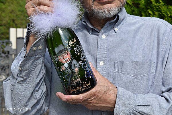 似顔絵シャンパン【ドレシャン】